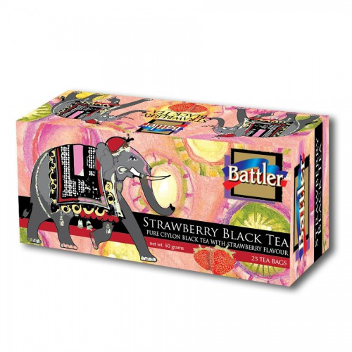Battler Strawberry Black Tea 25 Tea Bags