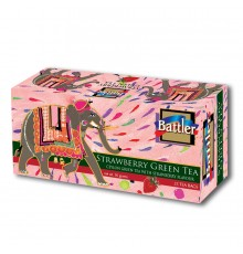 Battler Strawberry Green 25 Tea Bags