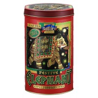 Festive Elephant 150 g Tin Caddy